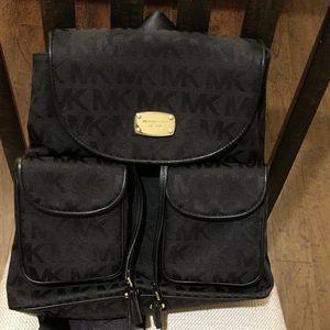 Michael Kors Medium - Large Black Backpack
